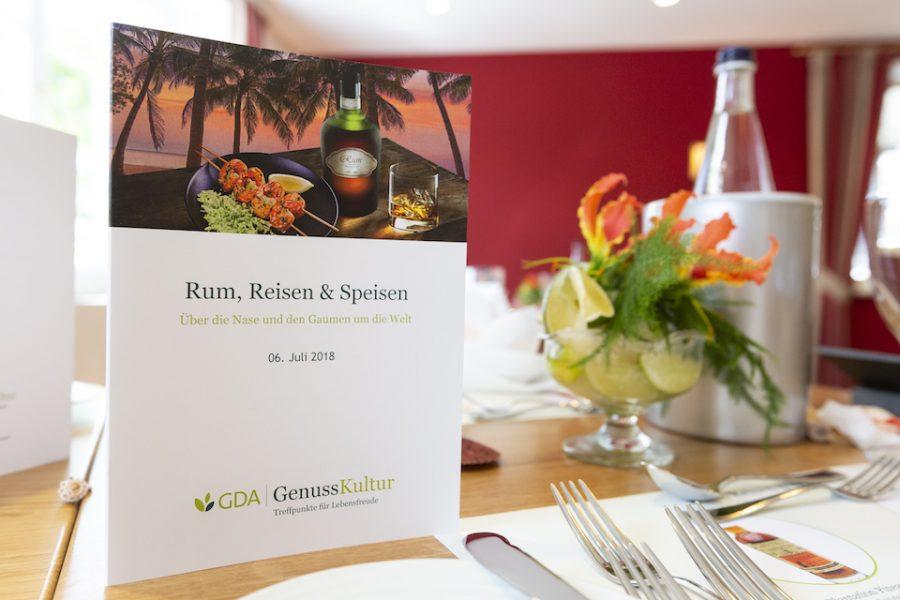 Rum, Reisen, Speisen… GDA-Genusskultur